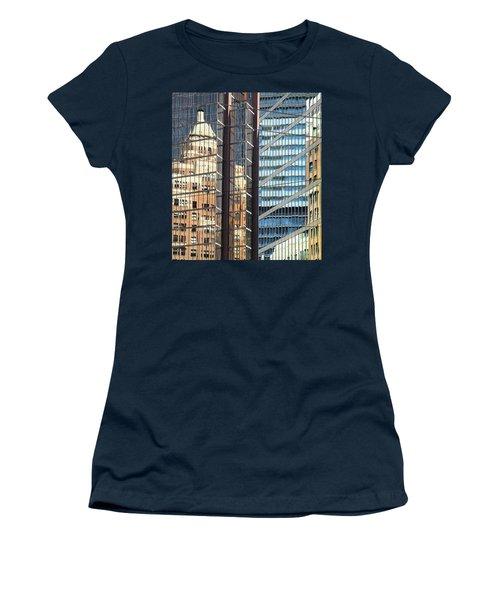 Women's T-Shirt (Junior Cut) featuring the photograph Miksang 10 Reflect by Theresa Tahara