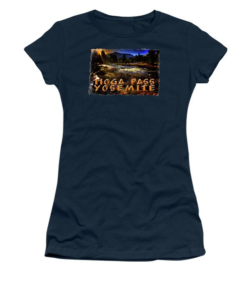 Mine Creek Between Lakes Ellery And Tioga Women's T-Shirt