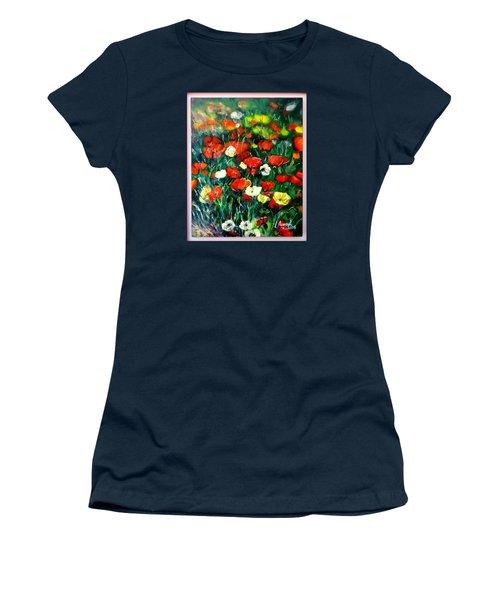 Mixed Puppies  Women's T-Shirt (Junior Cut) by Laila Awad Jamaleldin