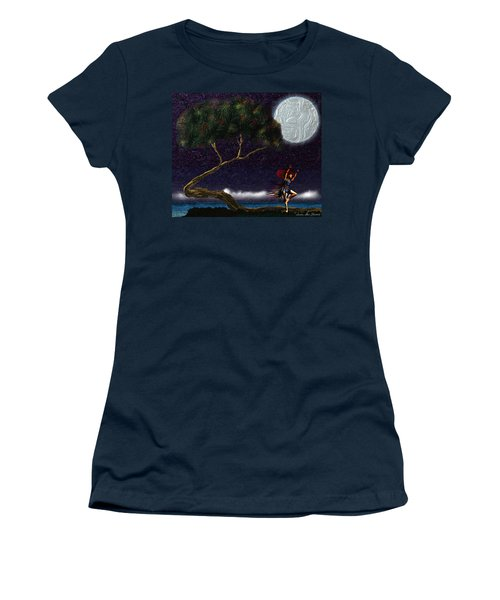 Women's T-Shirt (Athletic Fit) featuring the digital art Moon Dancer by Iowan Stone-Flowers