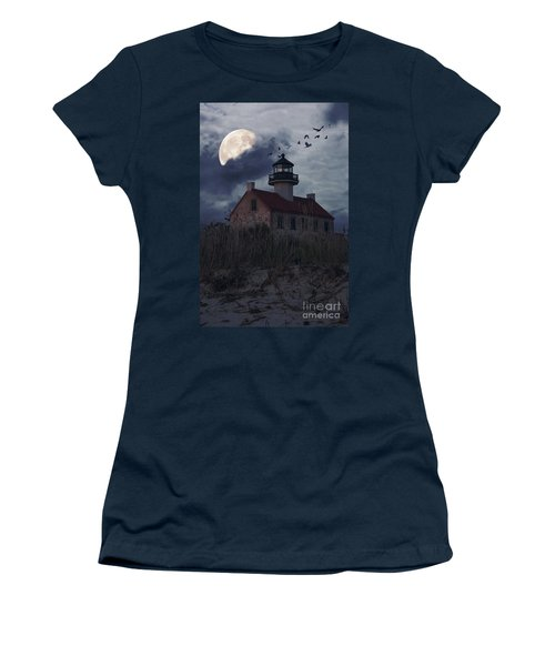 Moonlight At East Point Women's T-Shirt (Athletic Fit)
