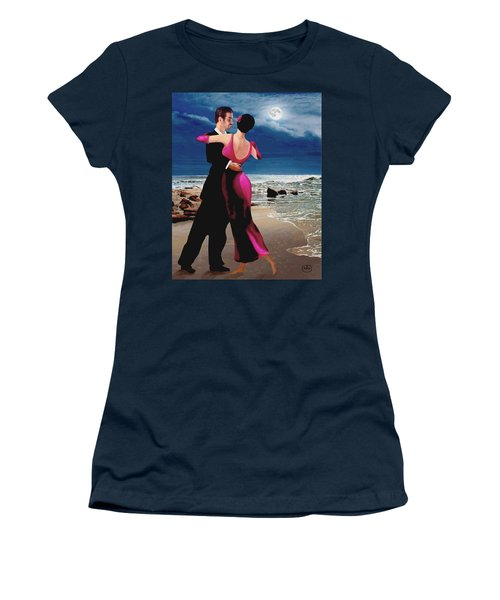 Moonlight Dance Women's T-Shirt (Athletic Fit)