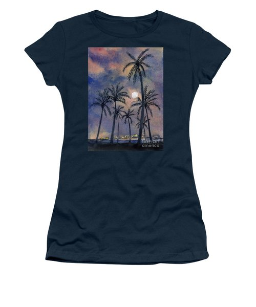 Moonlight Over Key West Women's T-Shirt (Athletic Fit)