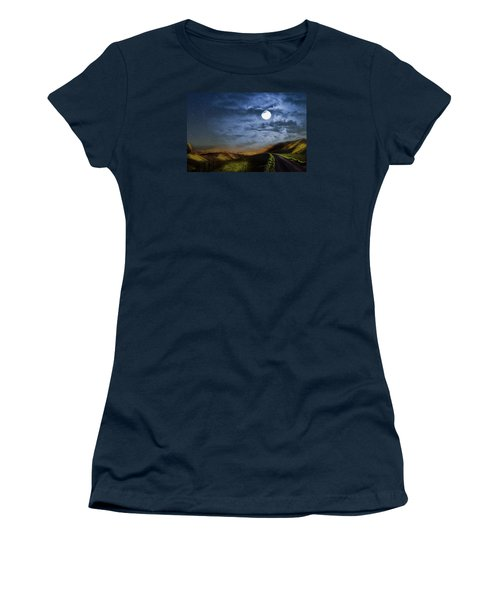 Moonlight Path Women's T-Shirt (Athletic Fit)