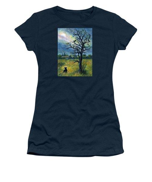 Moonlight Prowl Women's T-Shirt (Junior Cut) by Retta Stephenson