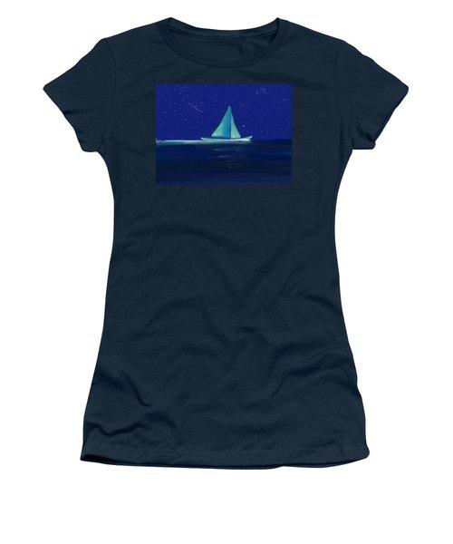 Moonlight Sail Women's T-Shirt (Athletic Fit)