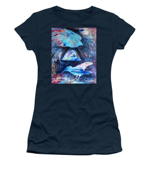 Moonlit Birds Women's T-Shirt (Athletic Fit)