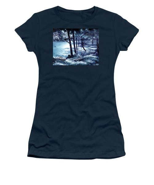 Moonlite On Village Creek Women's T-Shirt