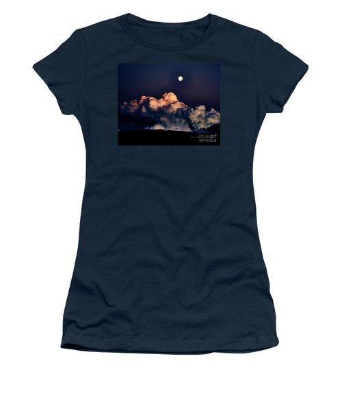 Moonrise In Taos Women's T-Shirt