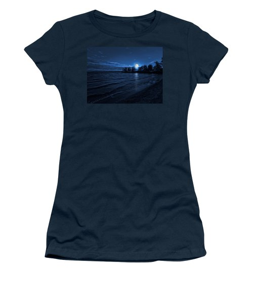 Moonrise On The Beach Women's T-Shirt (Athletic Fit)