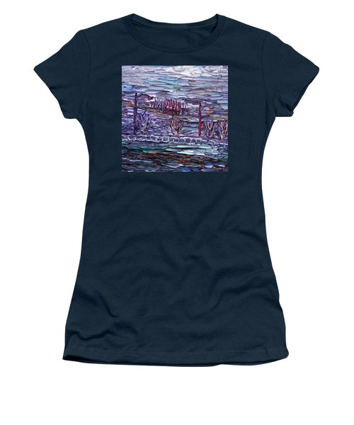 Women's T-Shirt (Junior Cut) featuring the painting Morning At Sayreville by Vadim Levin