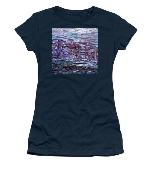 Morning At Sayreville Women's T-Shirt (Junior Cut) by Vadim Levin