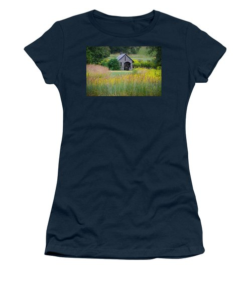 Women's T-Shirt featuring the photograph Morris Arboretum Mill In September by Bill Cannon