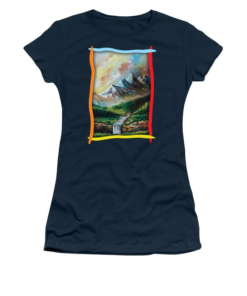 Mountains And Falls Women's T-Shirt (Athletic Fit)