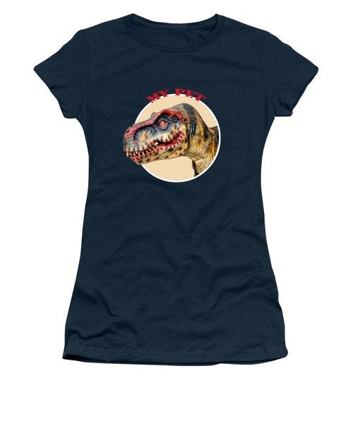Mr. T-rex, My Pet Women's T-Shirt (Athletic Fit)