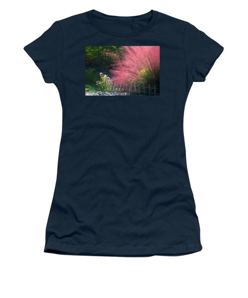 Women's T-Shirt (Junior Cut) featuring the photograph Muhly Grass by Kathryn Meyer