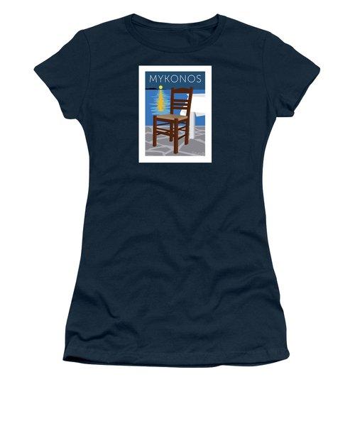 Mykonos Empty Chair - Blue Women's T-Shirt