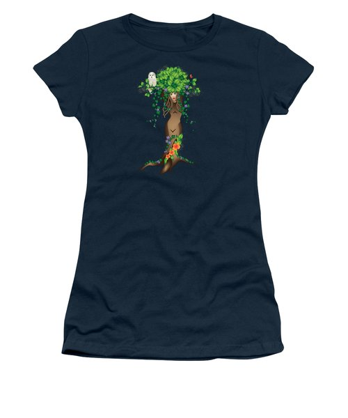 Mystical Maiden Tree Women's T-Shirt (Athletic Fit)