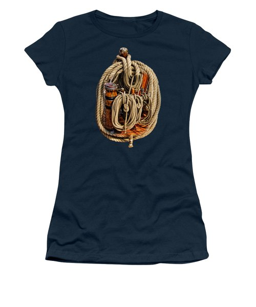 Nautical Knots 17 Oil Women's T-Shirt (Athletic Fit)