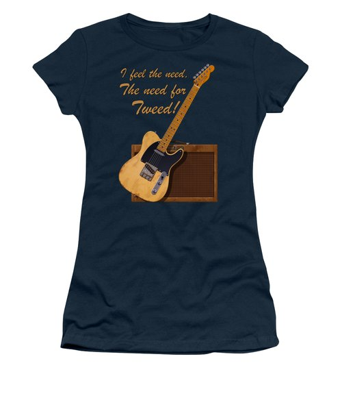 Need For Tweed Tele T Shirt Women's T-Shirt (Athletic Fit)