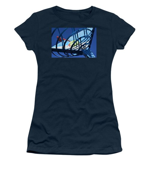 Neon Martini. Women's T-Shirt (Athletic Fit)