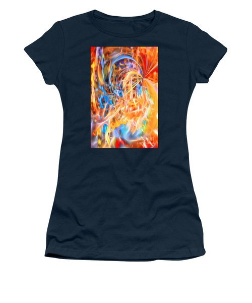 Women's T-Shirt (Athletic Fit) featuring the digital art Never Ending Worship by Margie Chapman