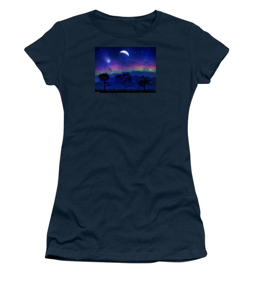 Women's T-Shirt (Junior Cut) featuring the photograph Neverending Nights by Bernd Hau