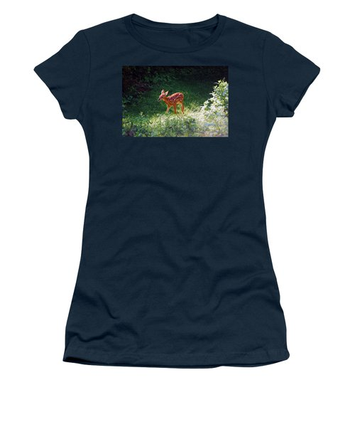 New Backyard Visitor Women's T-Shirt (Athletic Fit)