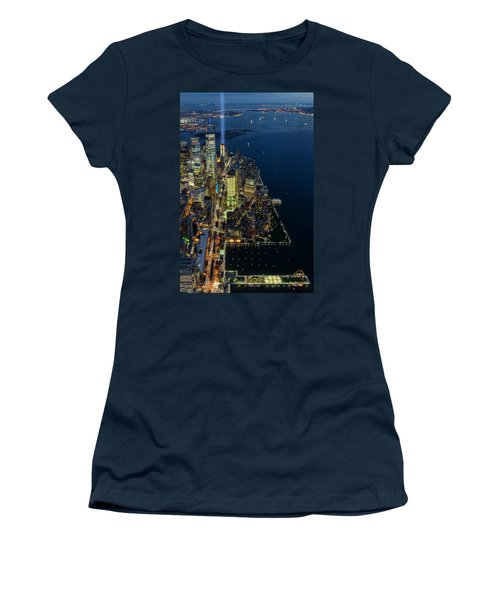 Women's T-Shirt (Junior Cut) featuring the photograph New York City Remembers 911 by Susan Candelario
