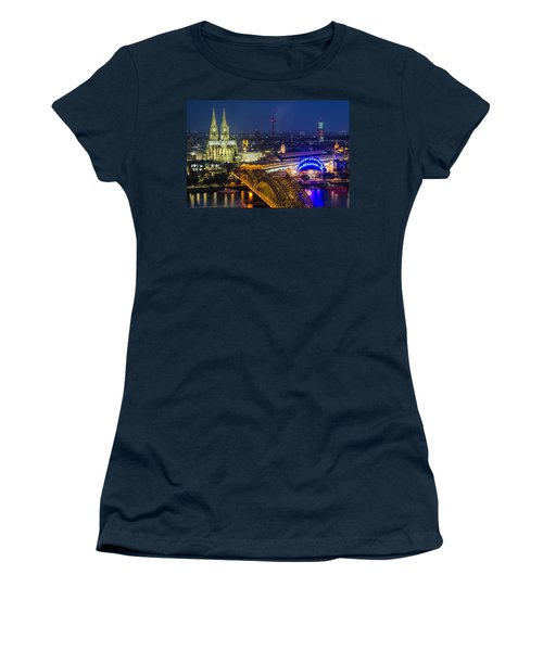 Night Falls Upon Cologne 2 Women's T-Shirt