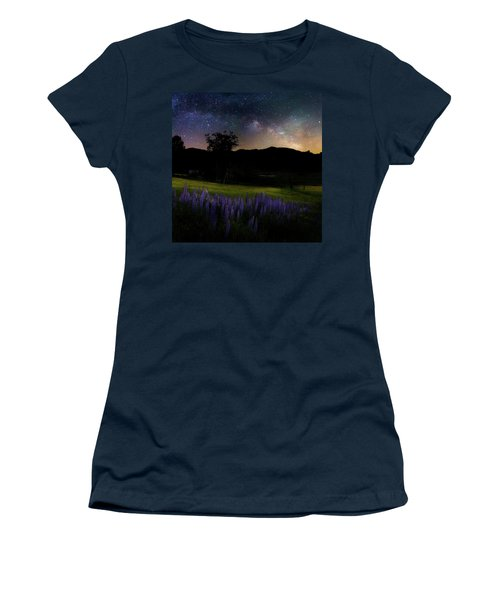 Women's T-Shirt (Junior Cut) featuring the photograph Night Flowers Square by Bill Wakeley
