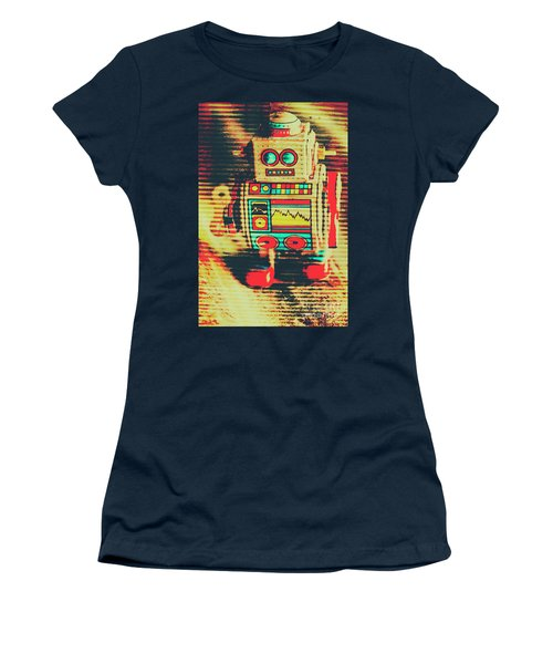 Nostalgic Tin Sign Robot Women's T-Shirt