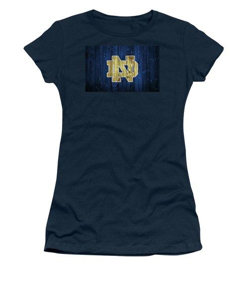 Notre Dame Barn Door Women's T-Shirt (Athletic Fit)