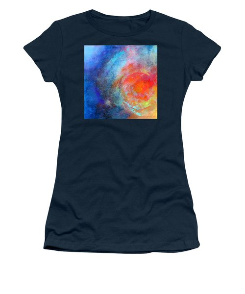 Fantasies In Space Series Painting. Nova Concerto. Acrylic Painting. Women's T-Shirt (Athletic Fit)