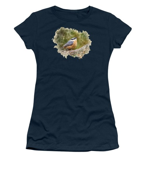 Nuthatch Watercolor Art Women's T-Shirt