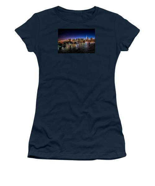 Nyc Skyline Women's T-Shirt (Athletic Fit)