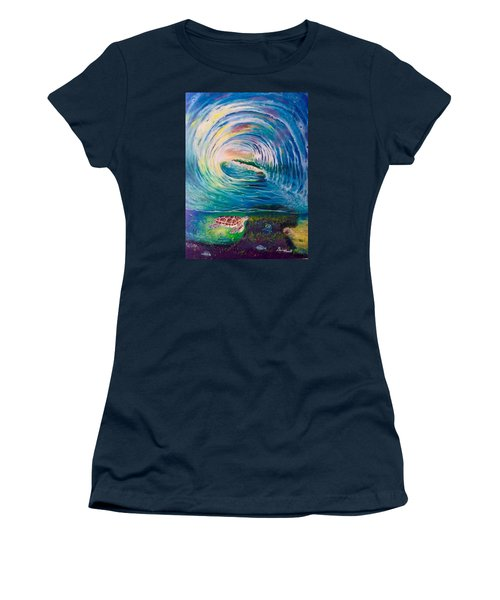 Ocean Reef Beach Women's T-Shirt (Athletic Fit)