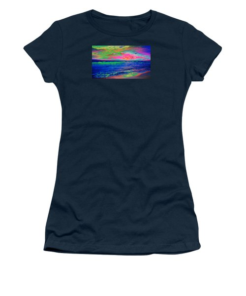 Ocean Sunset 2 Women's T-Shirt (Athletic Fit)