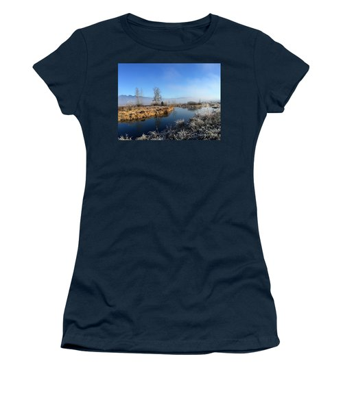 Women's T-Shirt (Junior Cut) featuring the photograph October Morning by Victor K