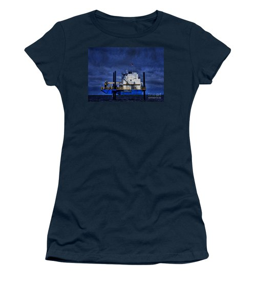 Oil Rig Women's T-Shirt (Athletic Fit)