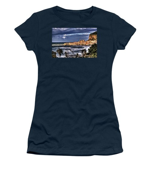 Old Coastal City  Women's T-Shirt (Junior Cut) by Patrick Boening