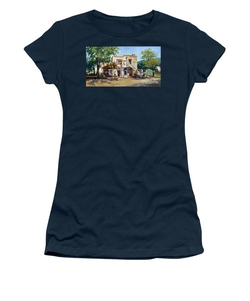 Women's T-Shirt featuring the painting Old Farm by Rosario Piazza