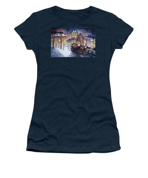 old Quebec Women's T-Shirt (Junior Cut) by Peter Suhocke
