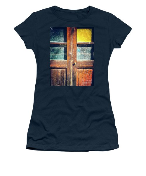 Women's T-Shirt (Athletic Fit) featuring the photograph Old Rotten Door by Silvia Ganora
