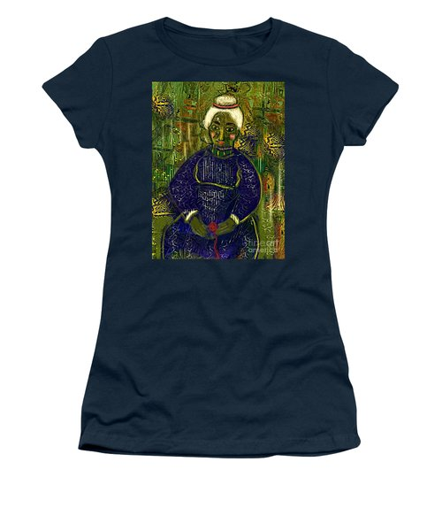 Women's T-Shirt (Junior Cut) featuring the digital art Old Storyteller by Alexis Rotella
