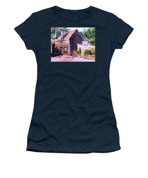 Old Wooden School House Women's T-Shirt (Junior Cut) by Larry Hamilton