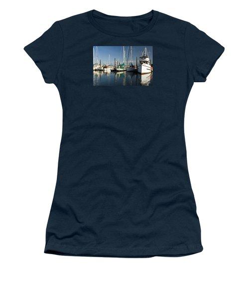 Olympia Marina Women's T-Shirt (Junior Cut) by Chuck Flewelling