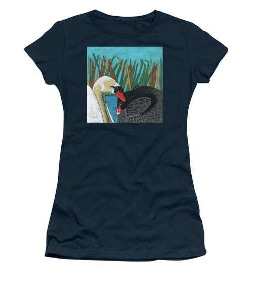 On Peaceful Pond Women's T-Shirt (Athletic Fit)