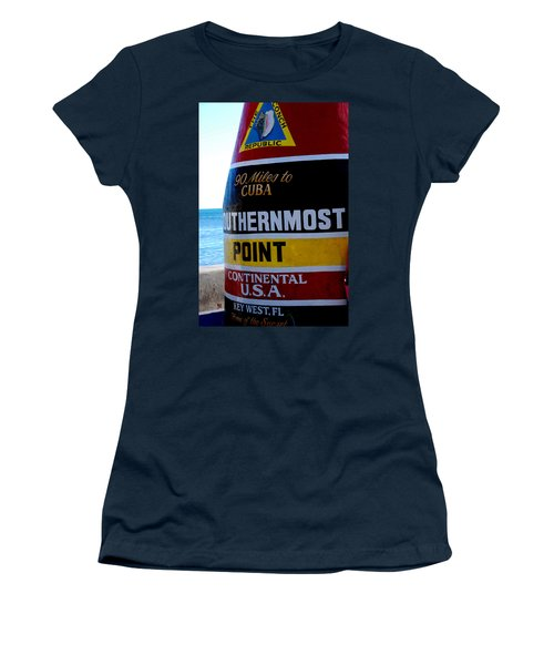 Only 90 Miles To Cuba Women's T-Shirt (Athletic Fit)