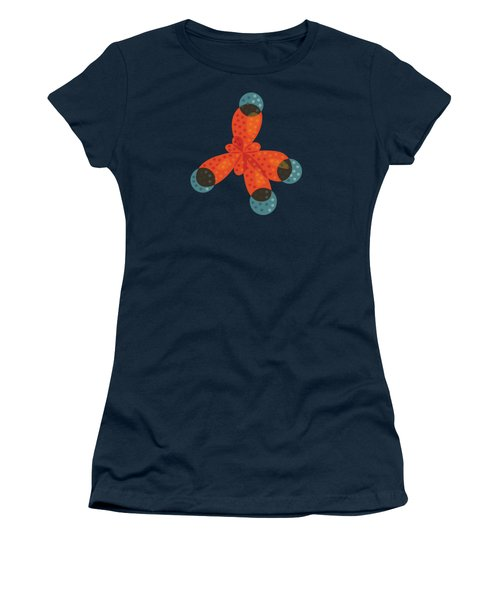 Orange Methane Molecule Women's T-Shirt (Athletic Fit)